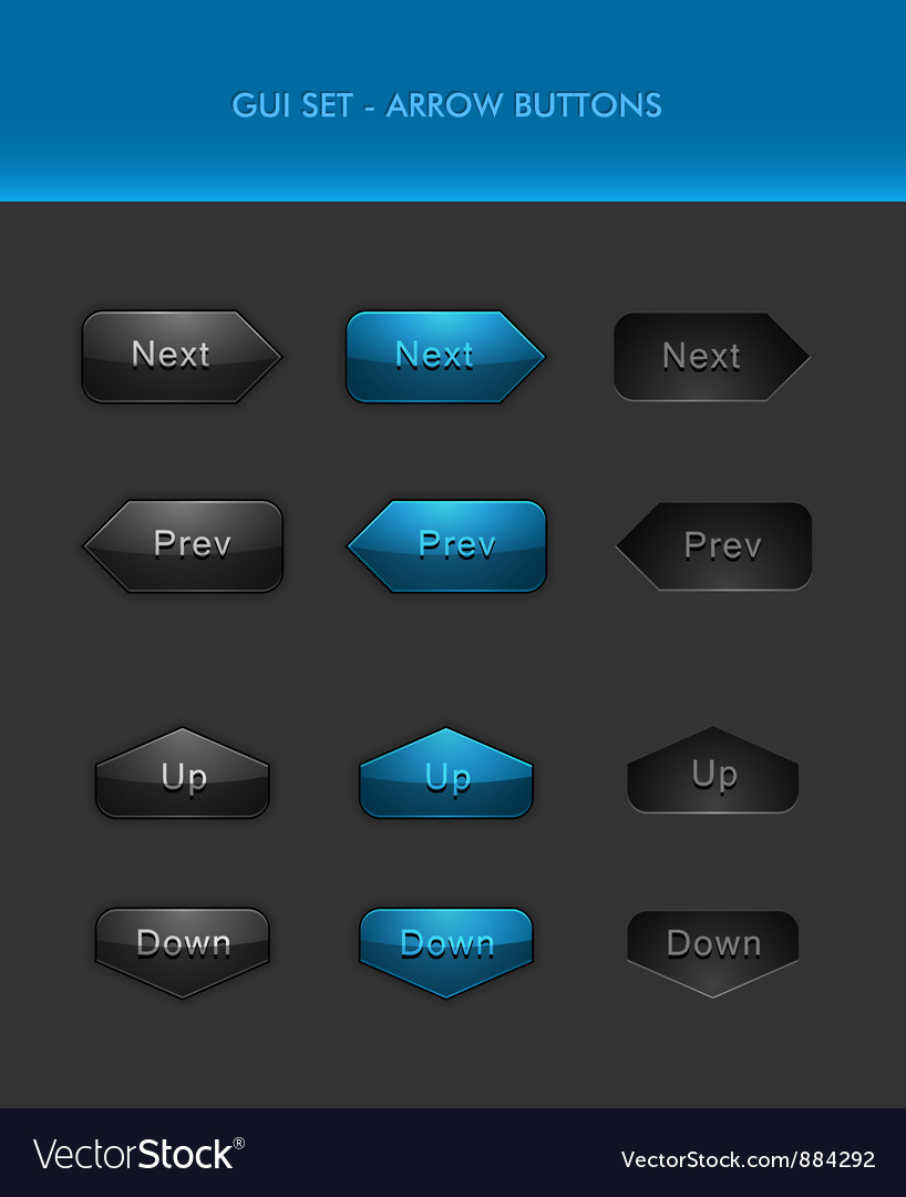 User Interface Elements - Arrow Buttons