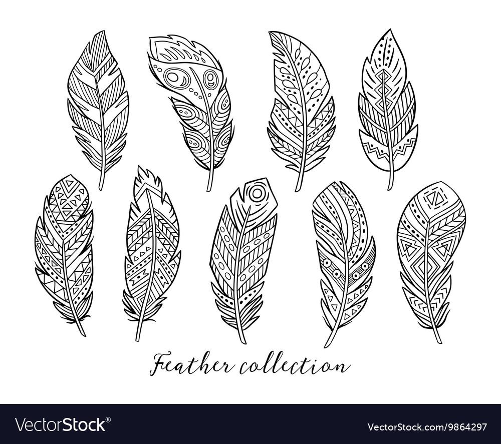 Black boho feather
