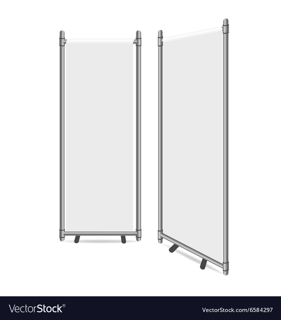 Blank roll up banner display vector image