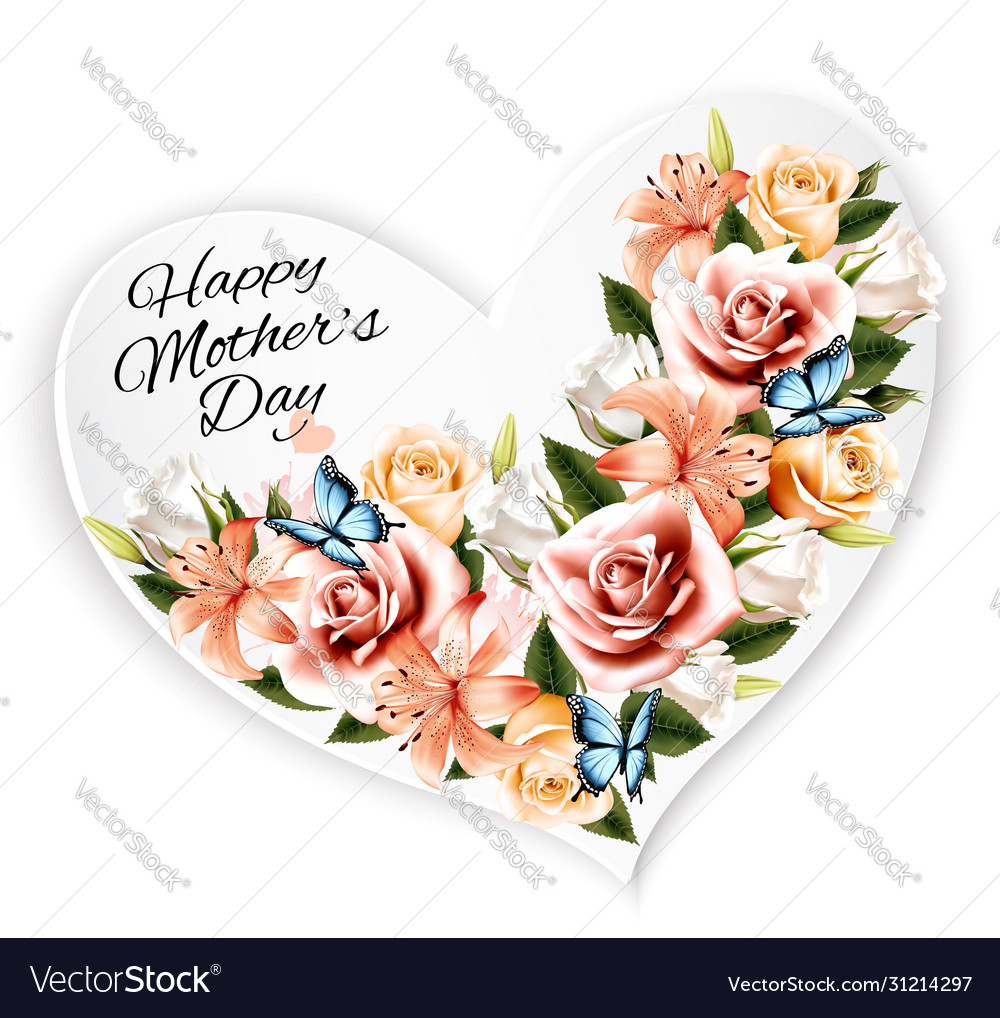 Happy mothers day background with beauty flowers