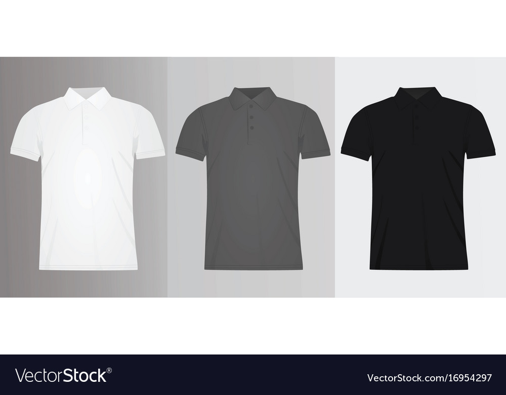 Man polo t shirt template Royalty Free Vector Image