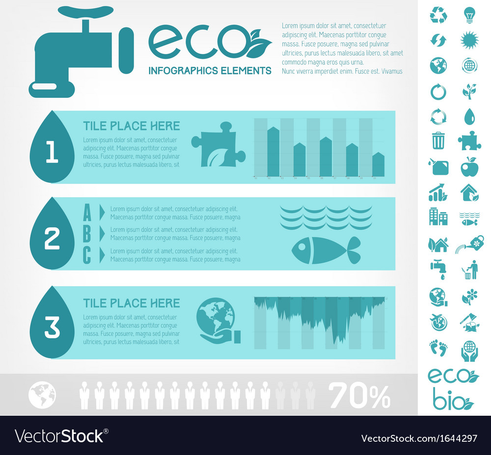Water Conservation Infographic Template Royalty Free Vector