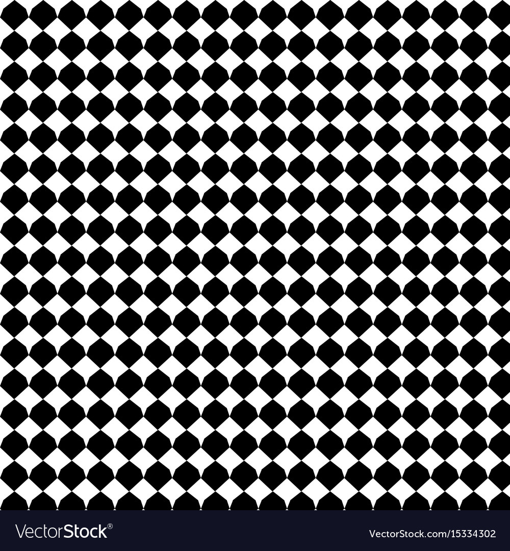 Black geometric seamless pattern background vector image