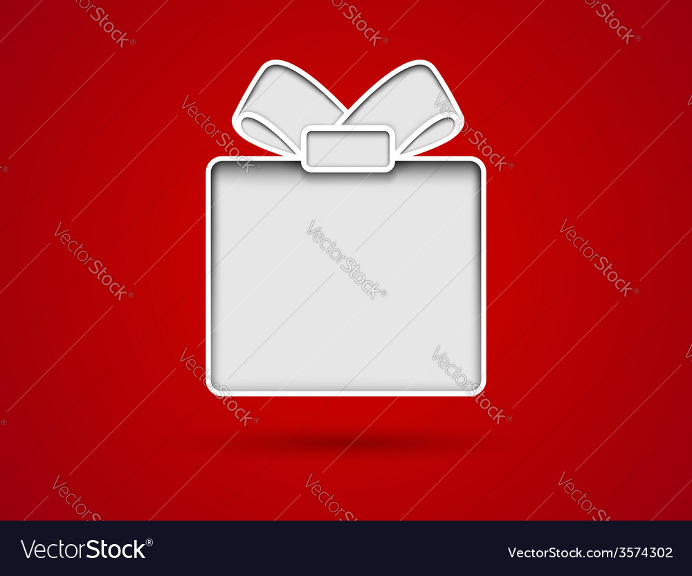 Cut out gift card vector image