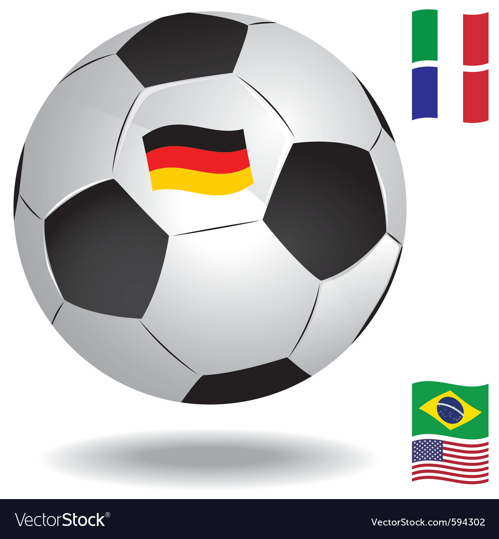 Football ball with flags