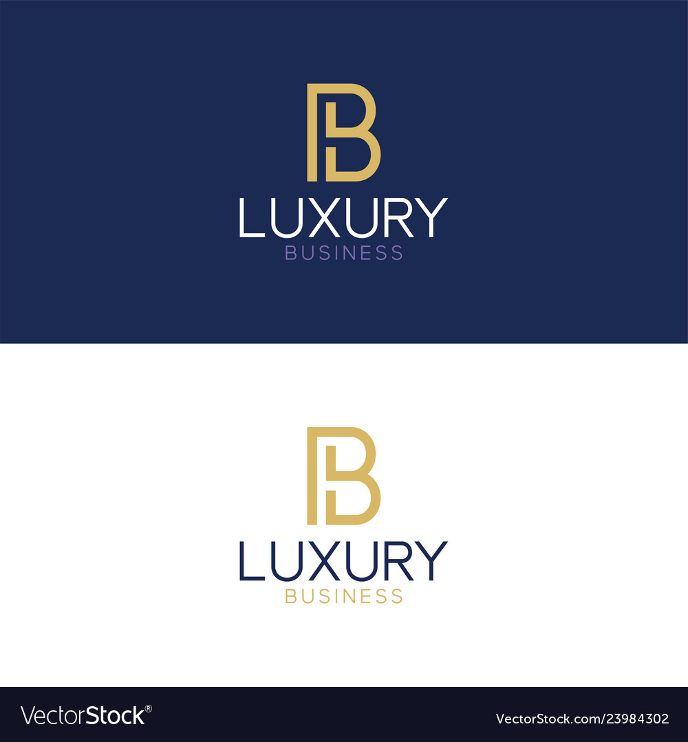 Luxury logo b modern style
