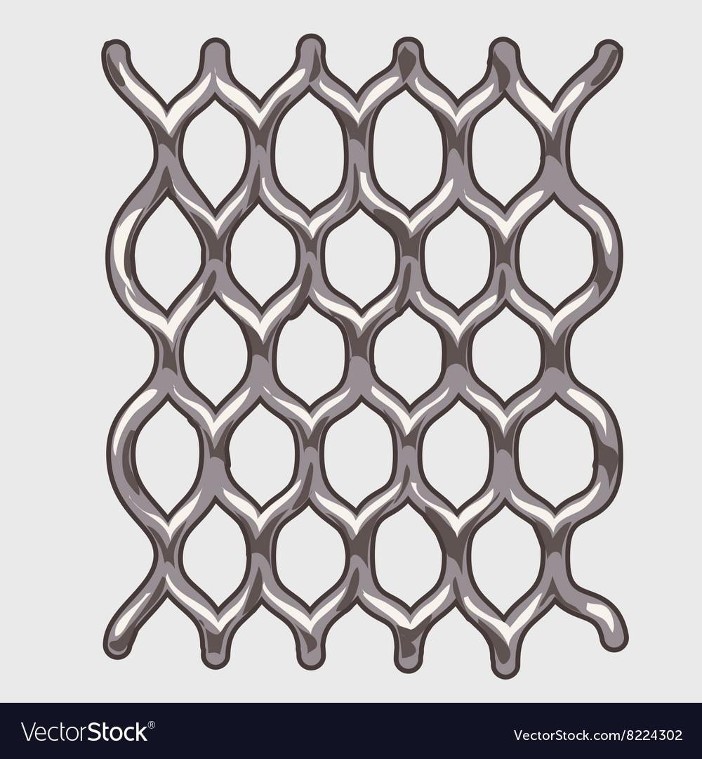 Part of iron grey mesh