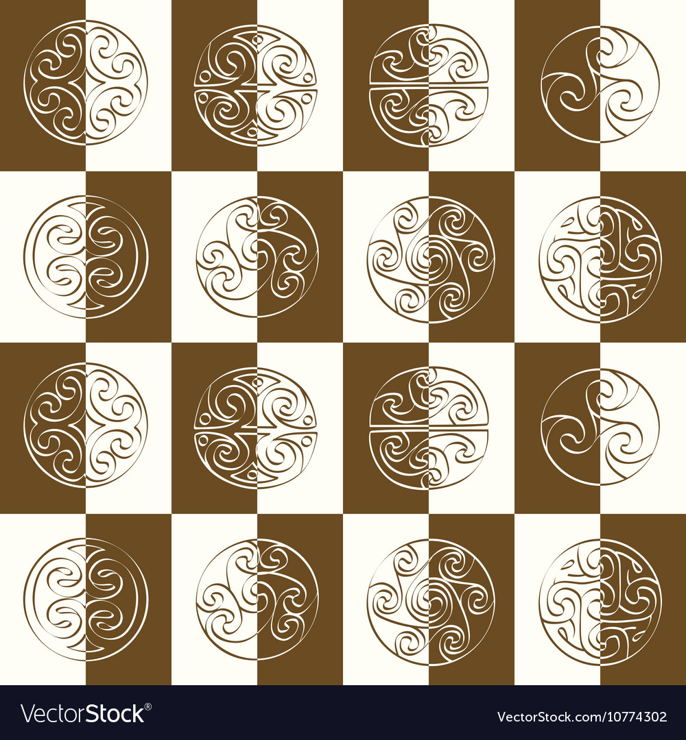 Seamless pattern with irish geometric ornament vector image