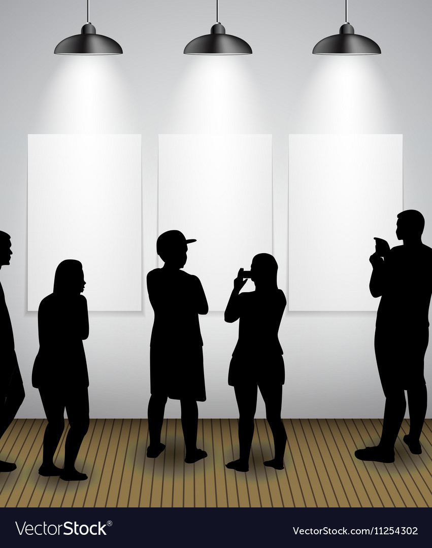 Silhouette of people in Background with Lighting