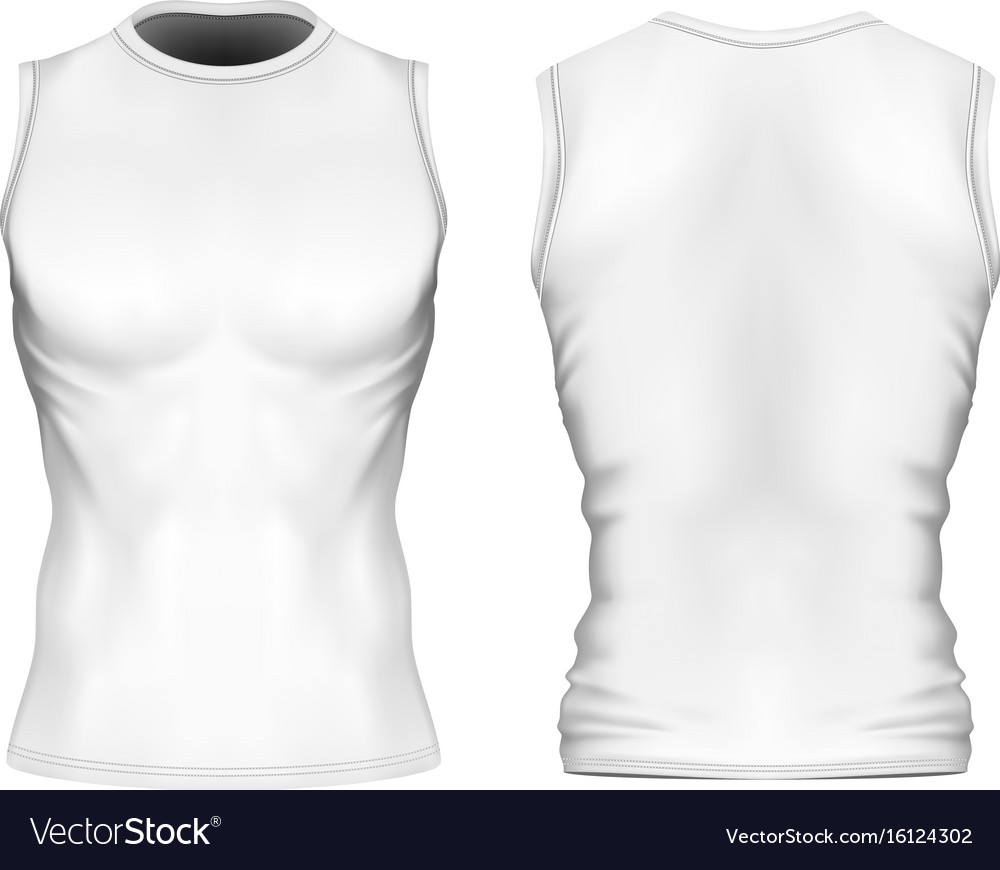 56c126b954830 Sleeveless t-shirt with round Royalty Free Vector Image
