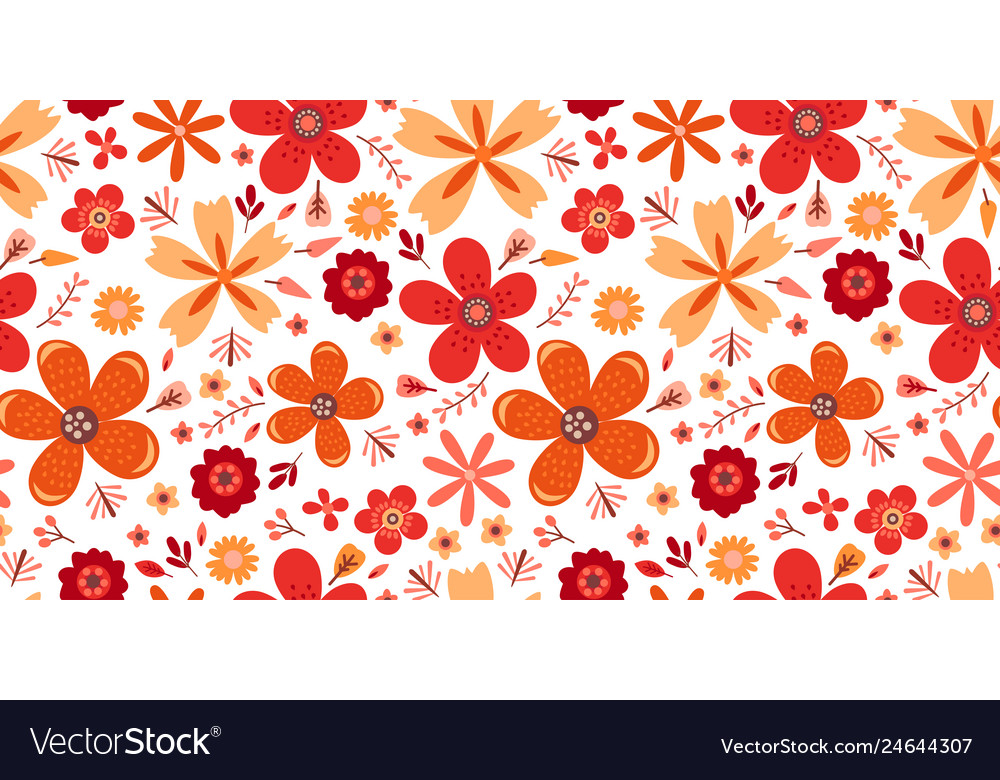 Amazing floral pattern with flowers bright