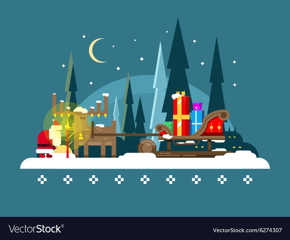 Christmas sleigh full of gifts