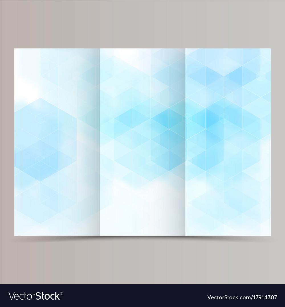 Clean minimal tri-fold brochure flyer leaflet