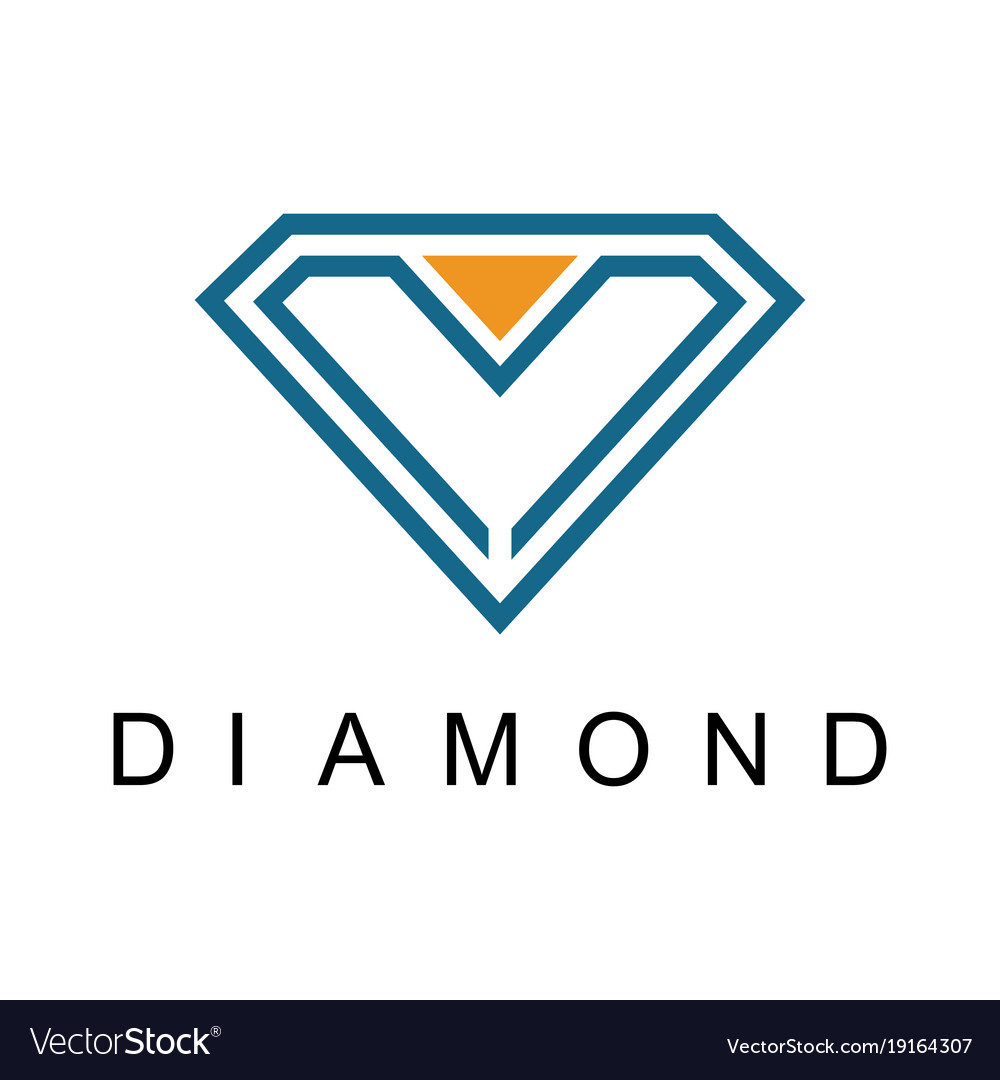 creative site of images diamond stock blue illustration logo