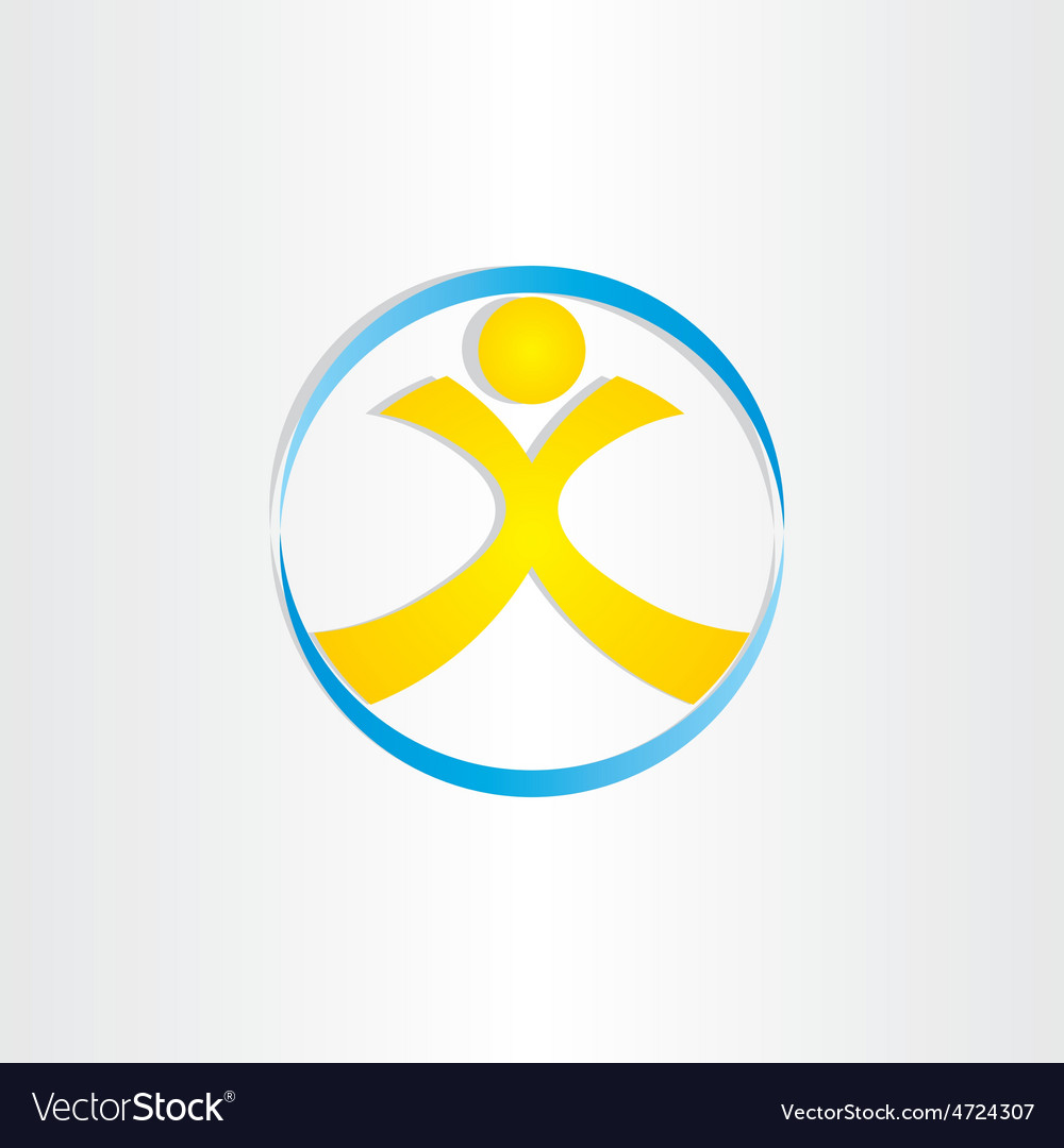 Letter x man in circle icon
