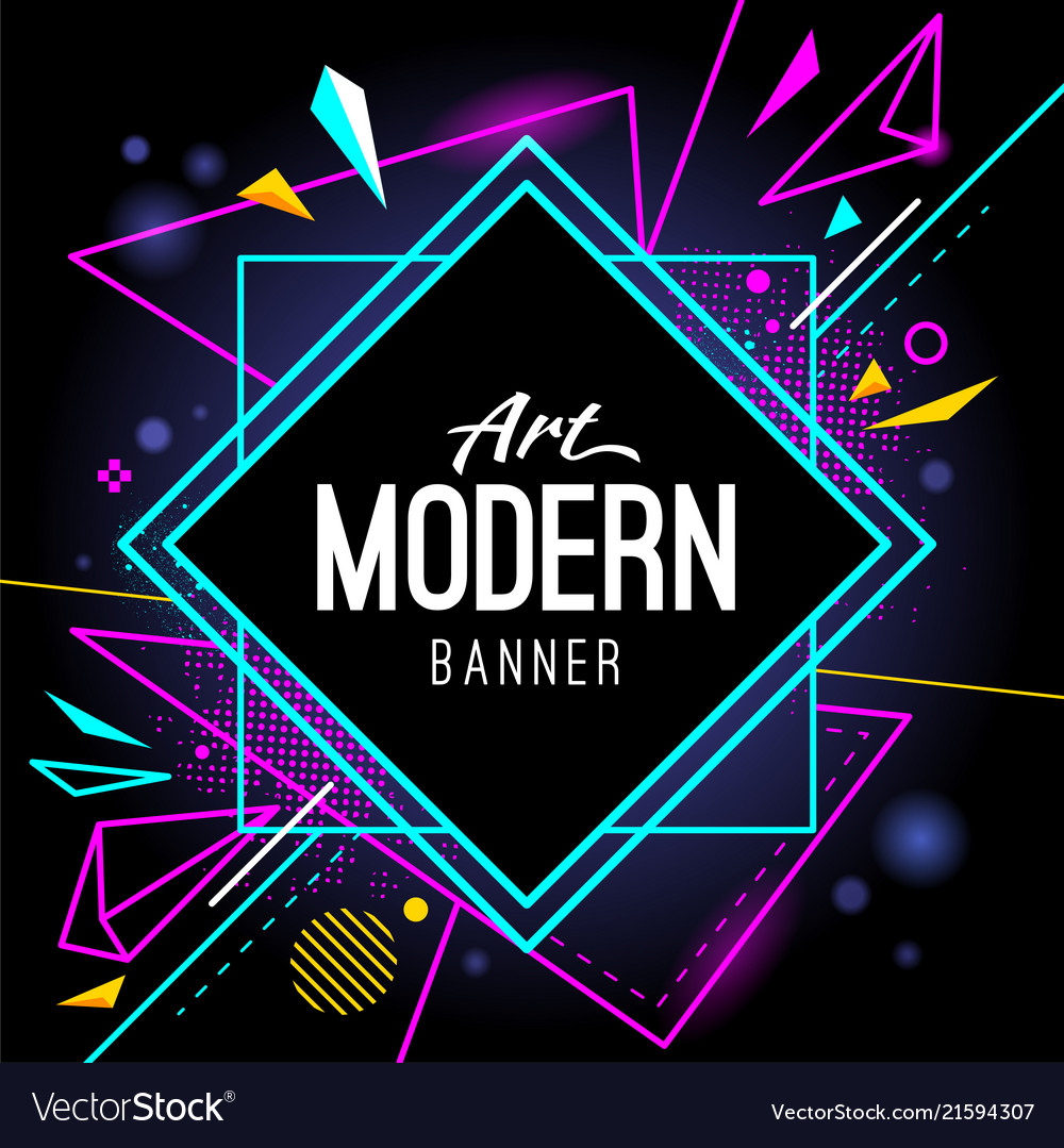 Modern art banner abstract wallpaper