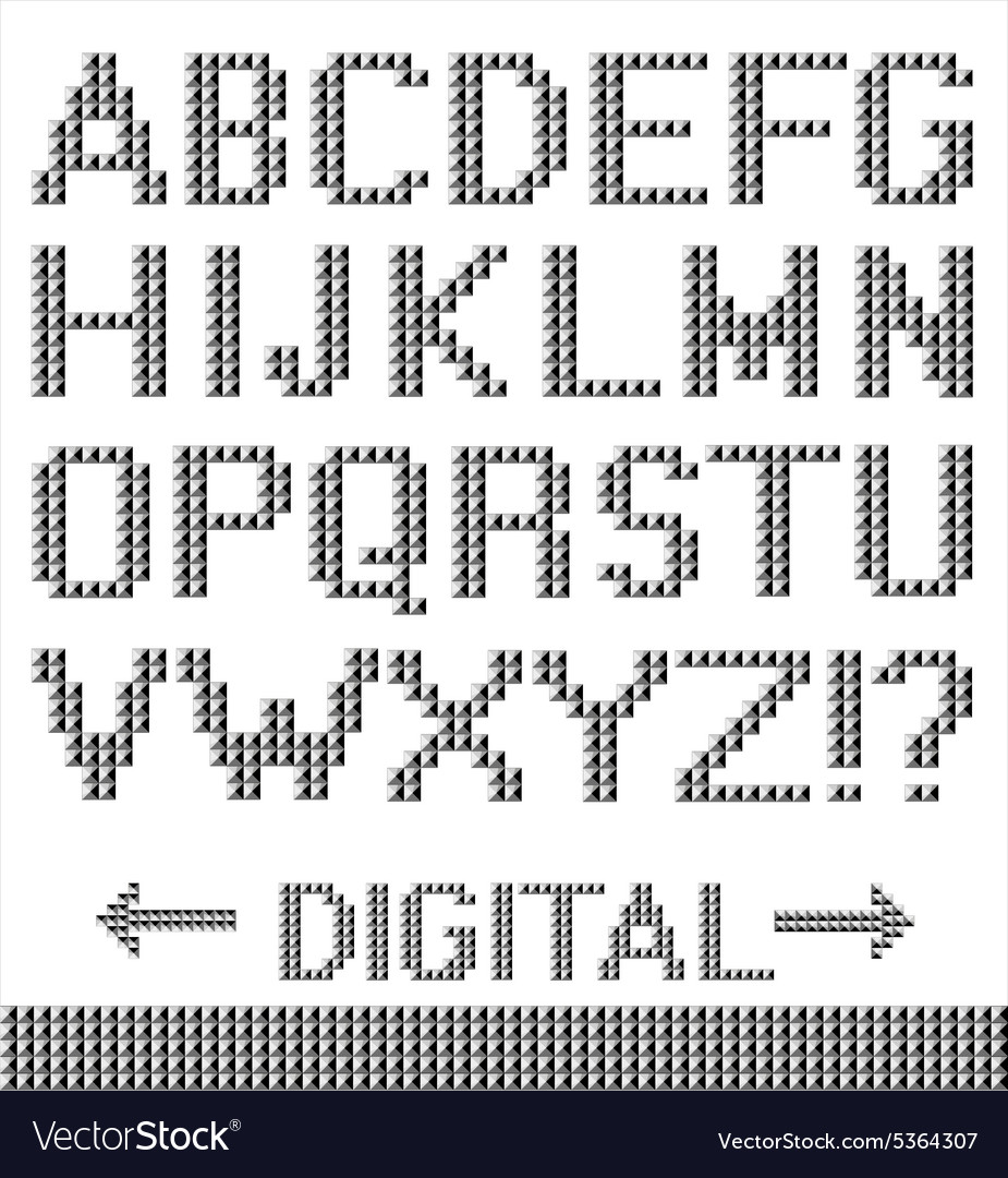 Pixel Font Background Royalty Free Vector Image