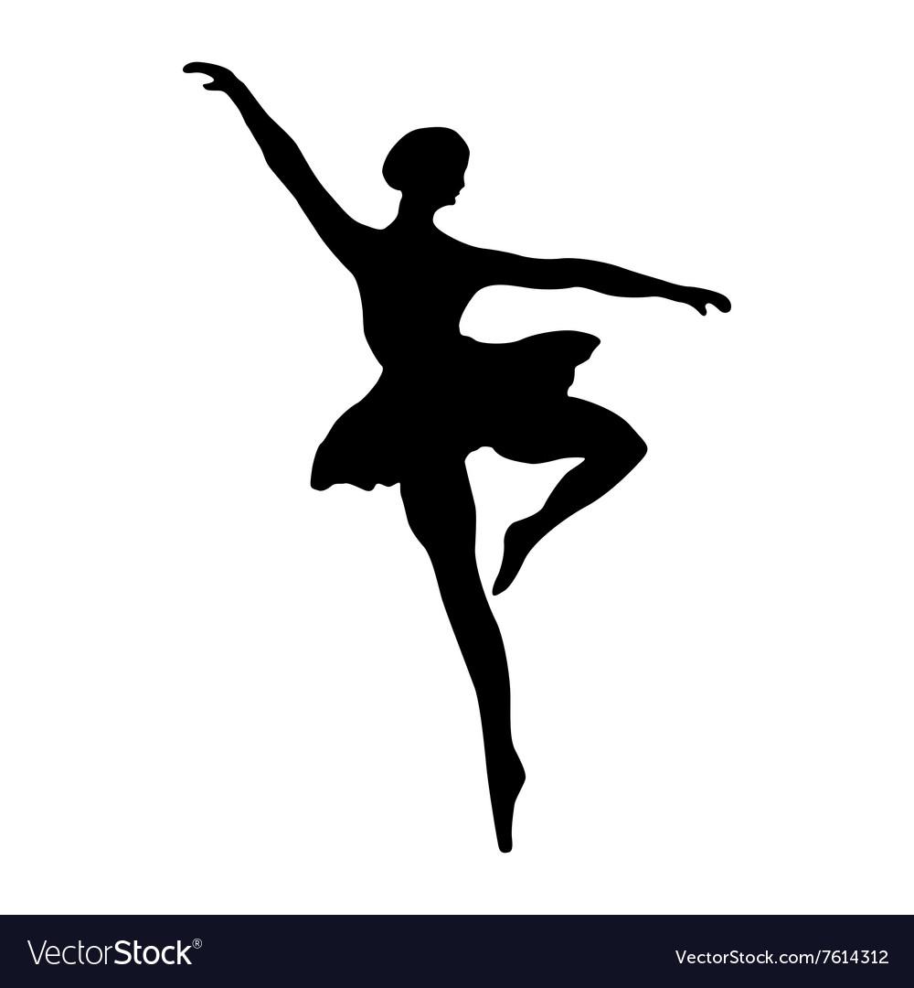ballerina silhouette black royalty free vector image rh vectorstock com ballerina vector silhouette ballerina vector art
