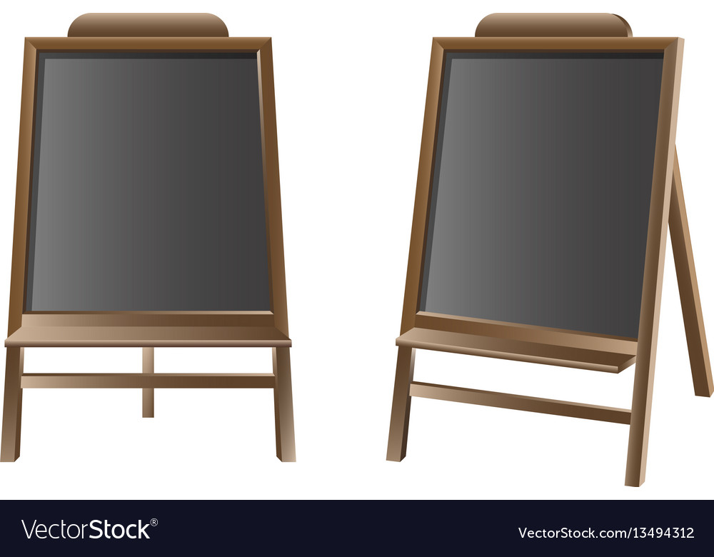 Black board isolated set