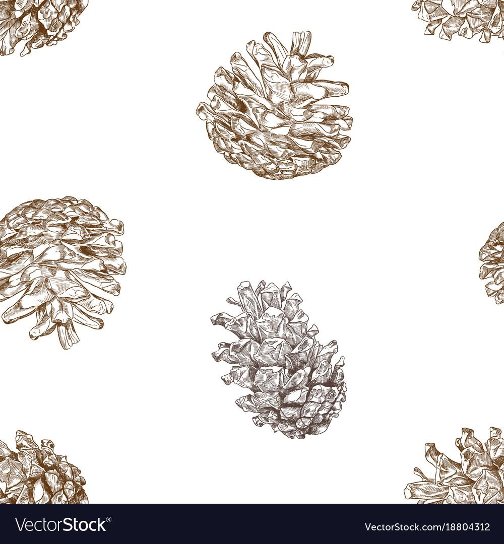 Christmas concept pine nut seamless pattern