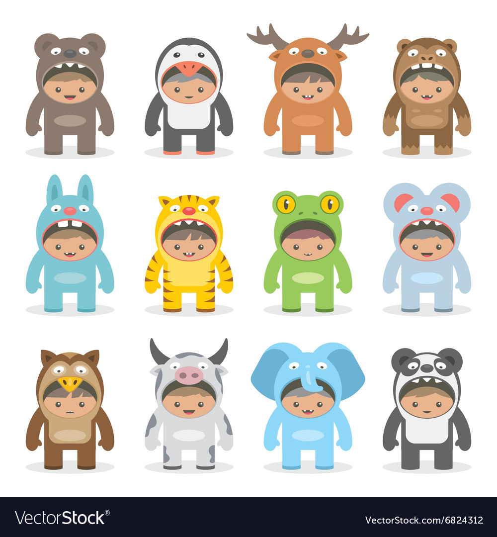 Christmas costumes kids vector image  sc 1 st  VectorStock & Christmas costumes kids Royalty Free Vector Image