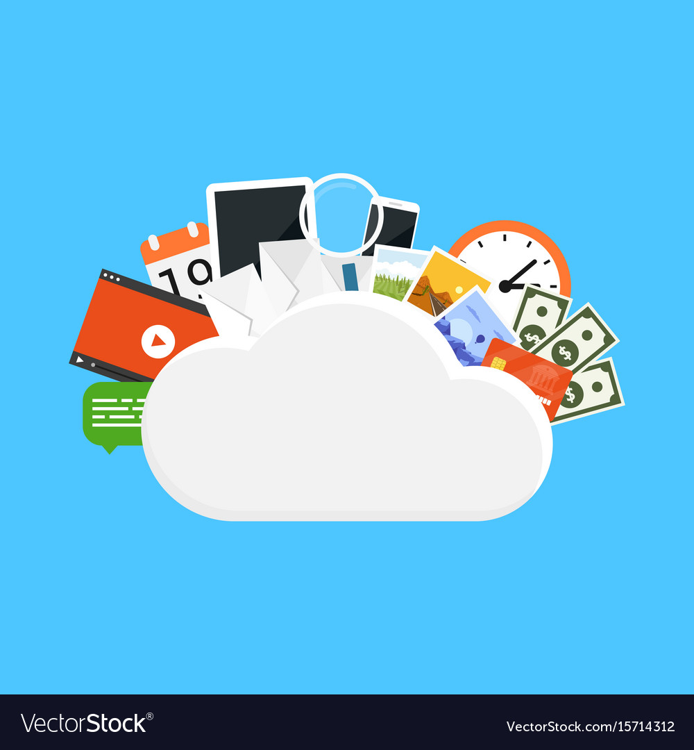 Cloud storage concept