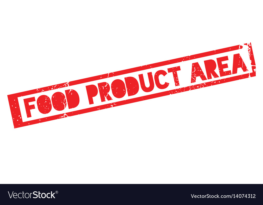 Food product area rubber stamp