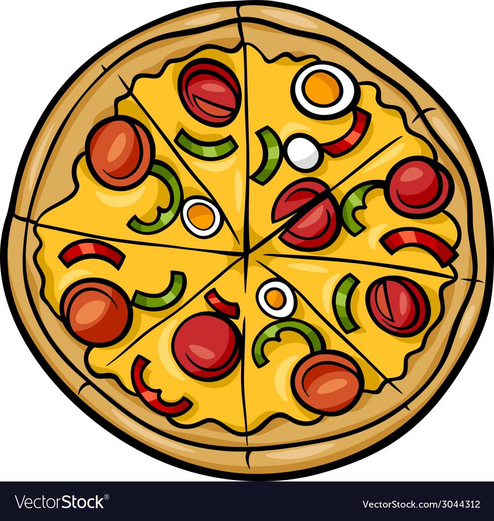 Italian pizza cartoon Royalty Free Vector Image
