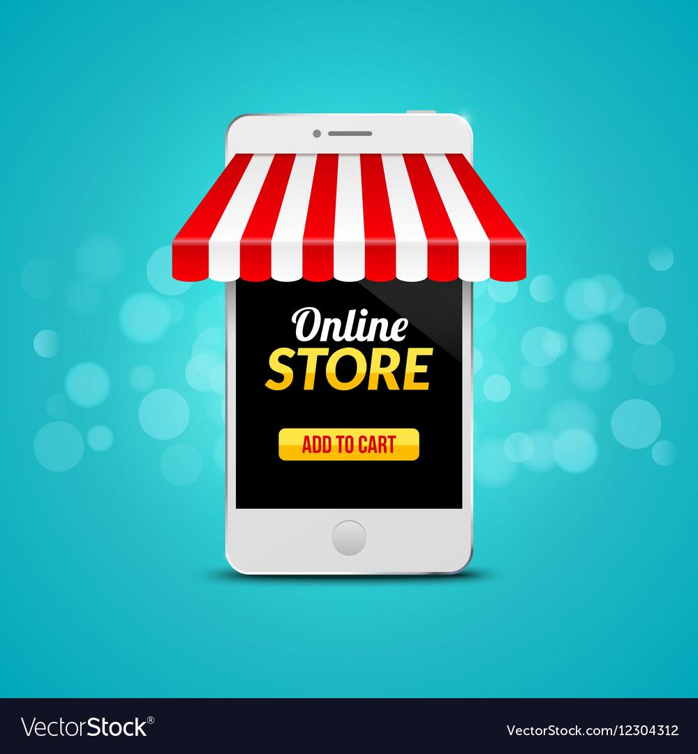 Mobile Online Store concept business design