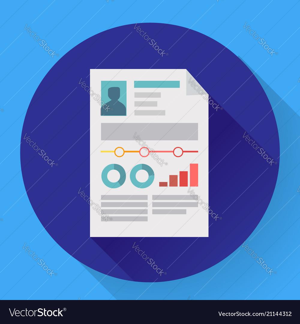 resume icon cv icon flat business concept cv vector image - Resume Icon