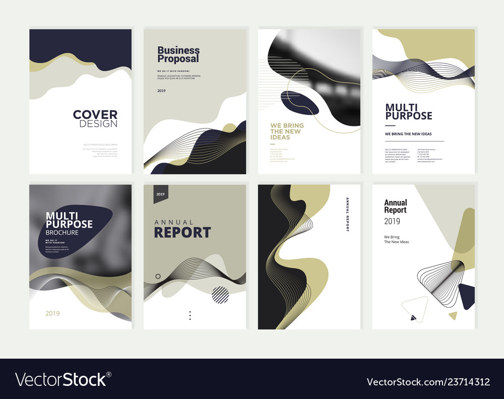 Set of brochure annual report design template