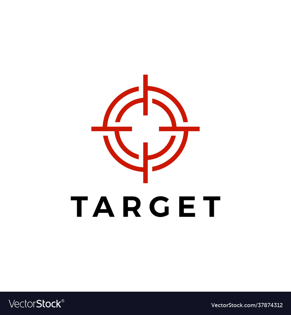 Target sniper scope red logo icon