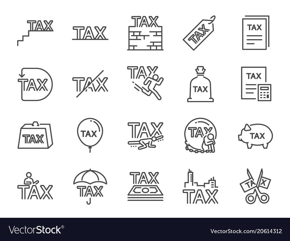 Taxes icon set
