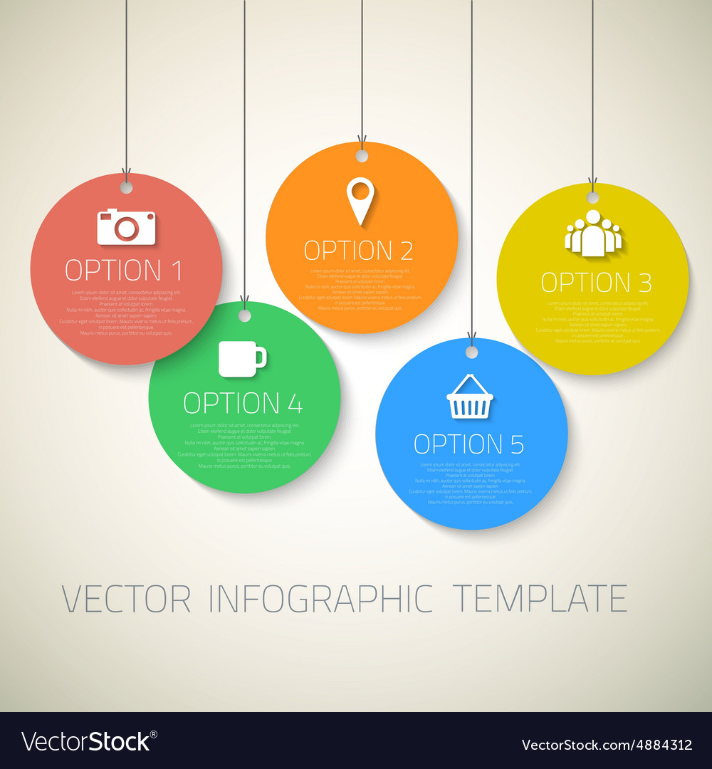 Web Infographic Round Badges Template Layout With