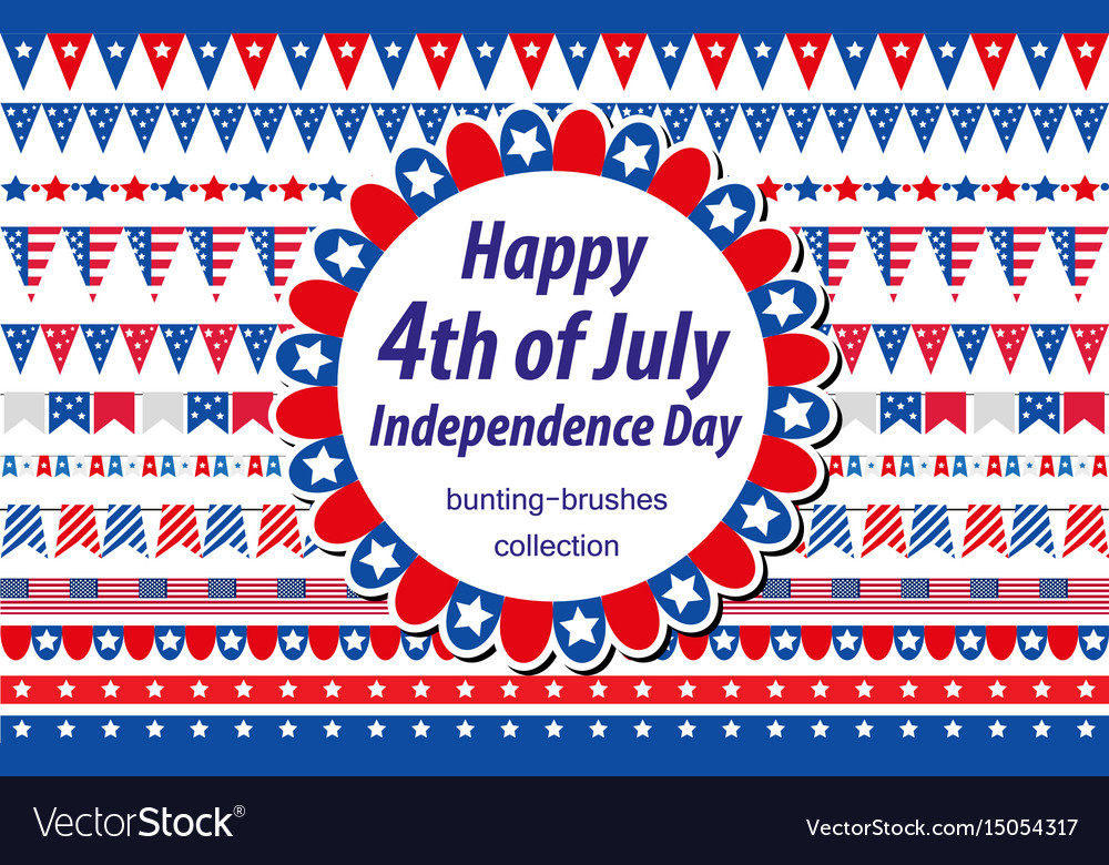 American independence day celebration in usa set