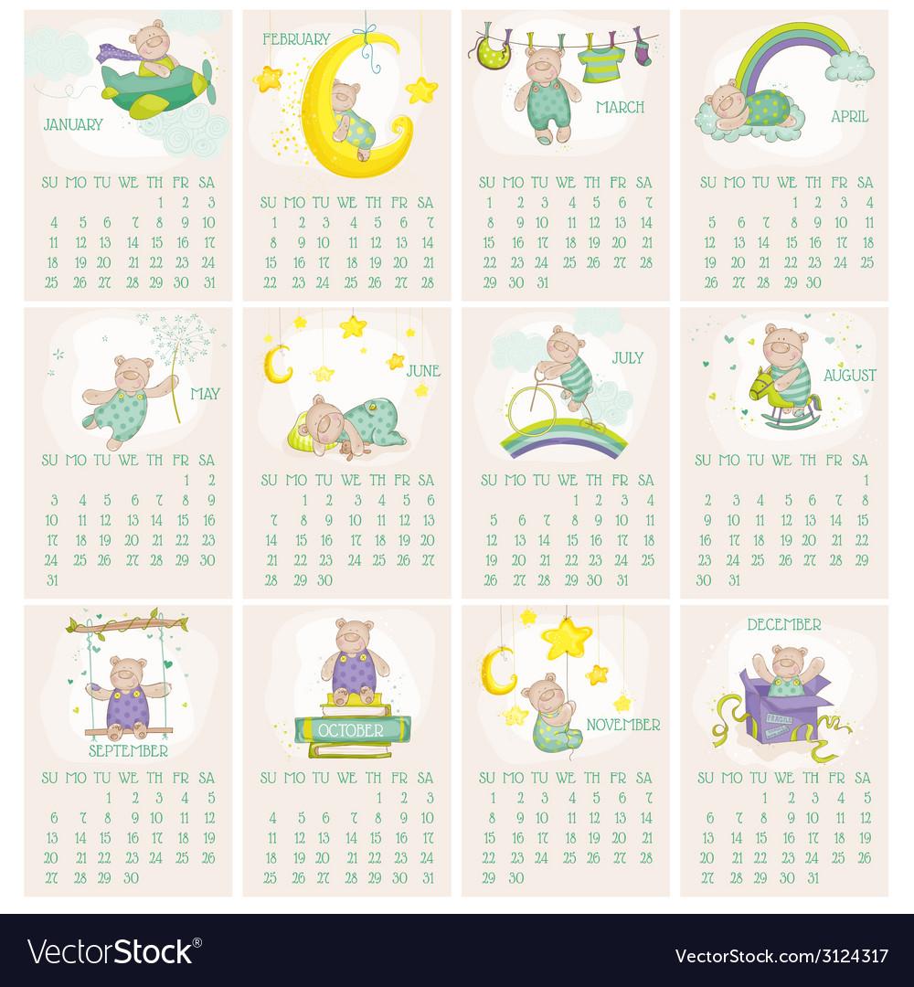 Baby Bear Calendar 2015