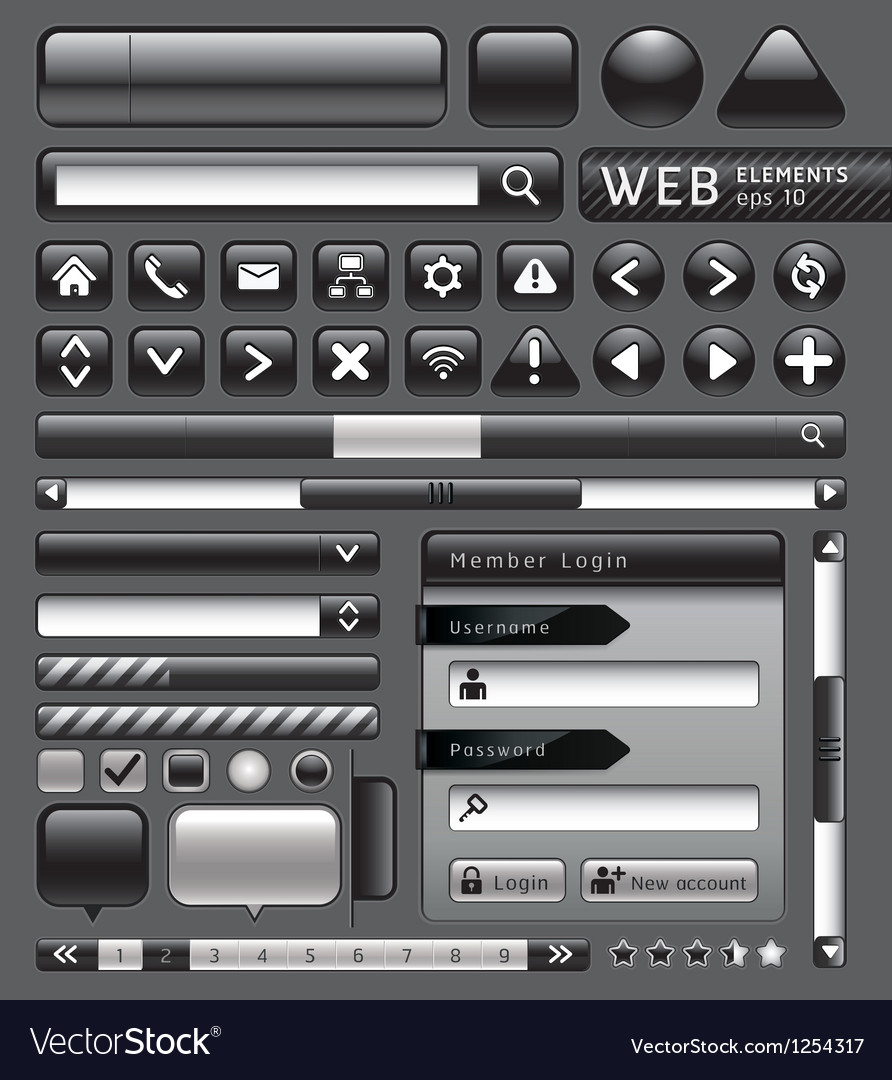 Blank buttons for website