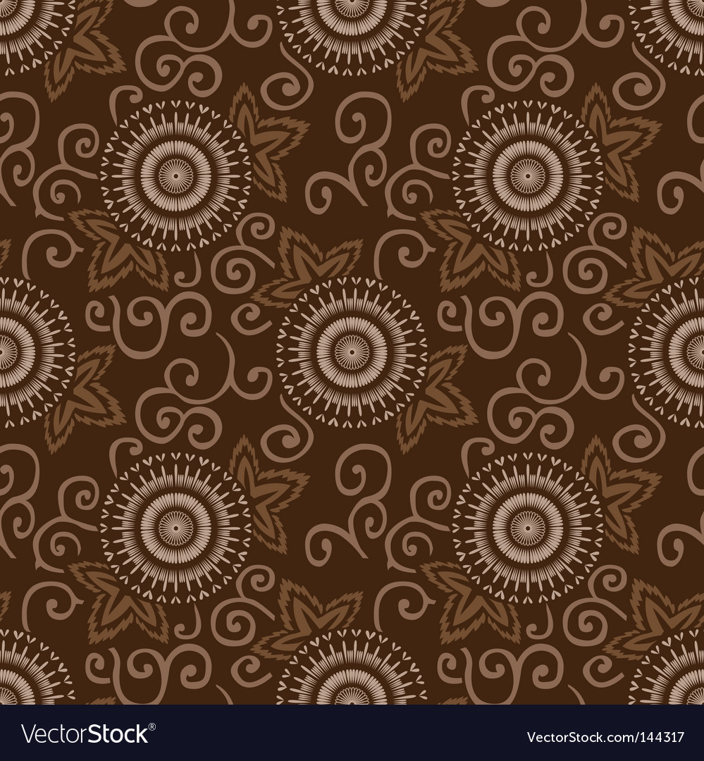 Decorative circles pattern vector image