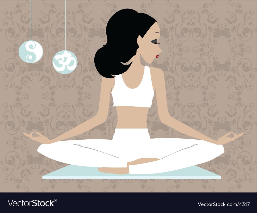 Miss boo Yoga vector image
