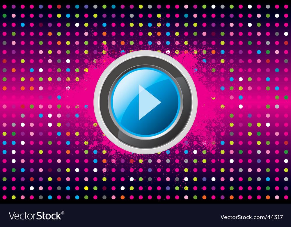 Play disco vector image