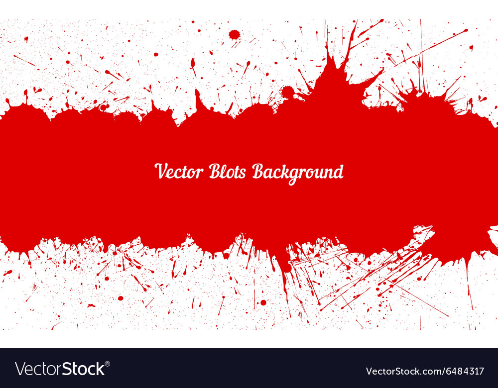 Red ink splashes with space for text over