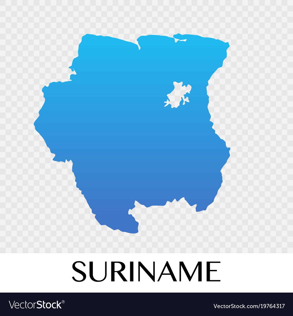 Suriname map in south america continent design