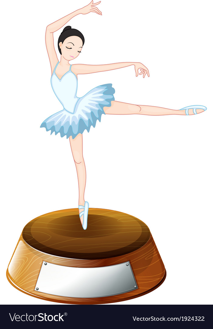 A ballerina dancer above the empty label vector image