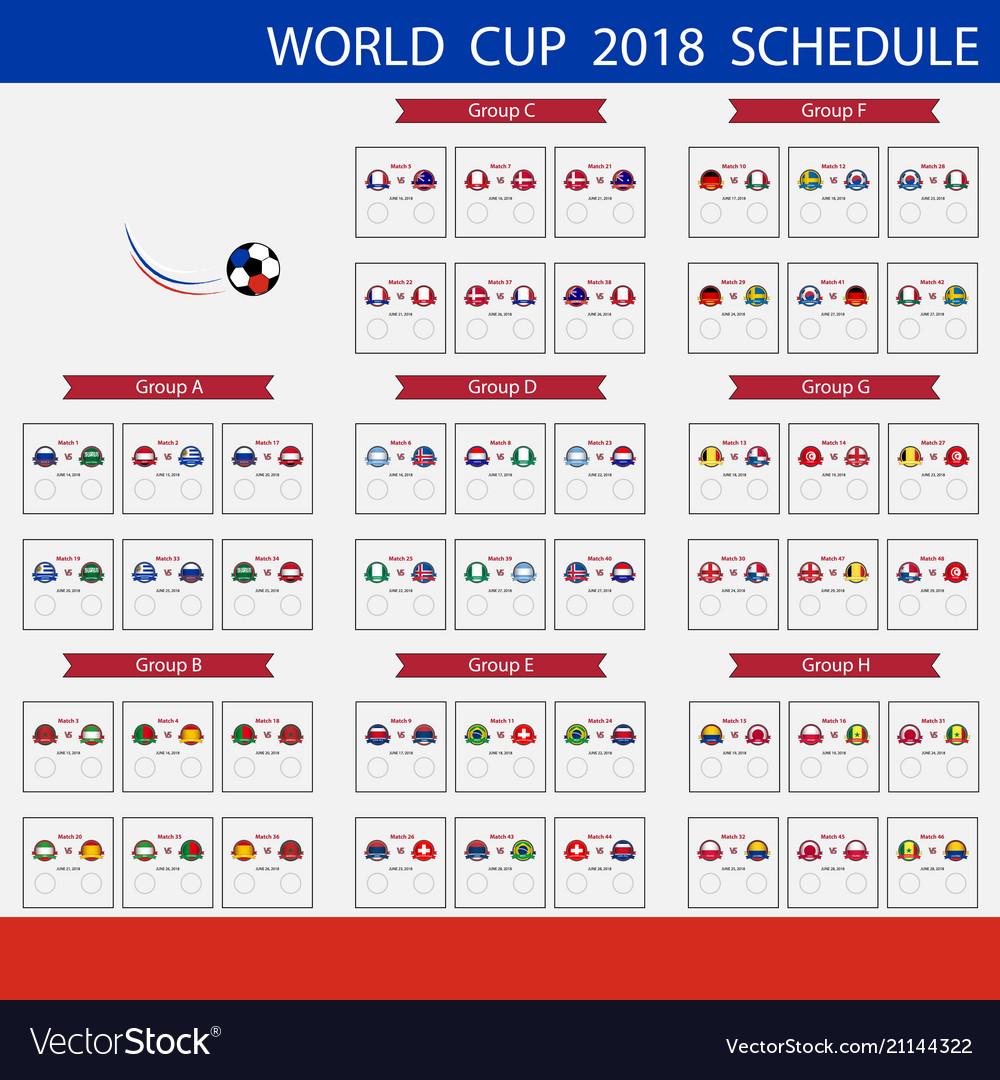 Football world cup 2018 scheduleinternational