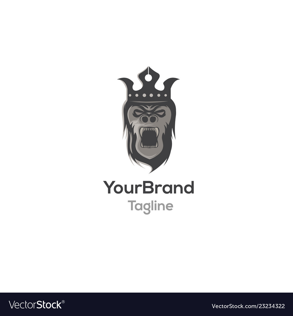 Gorilla king logo template