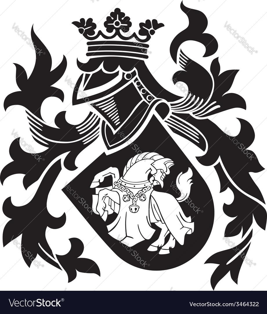 Heraldic silhouette No25