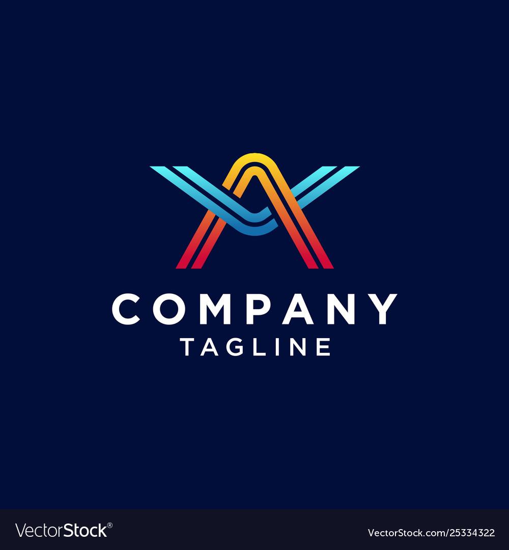Letter av logo design