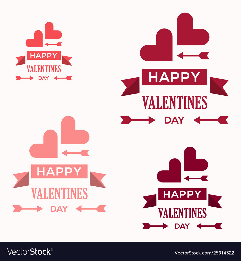 Love greeting cards and valentines day logo vector image