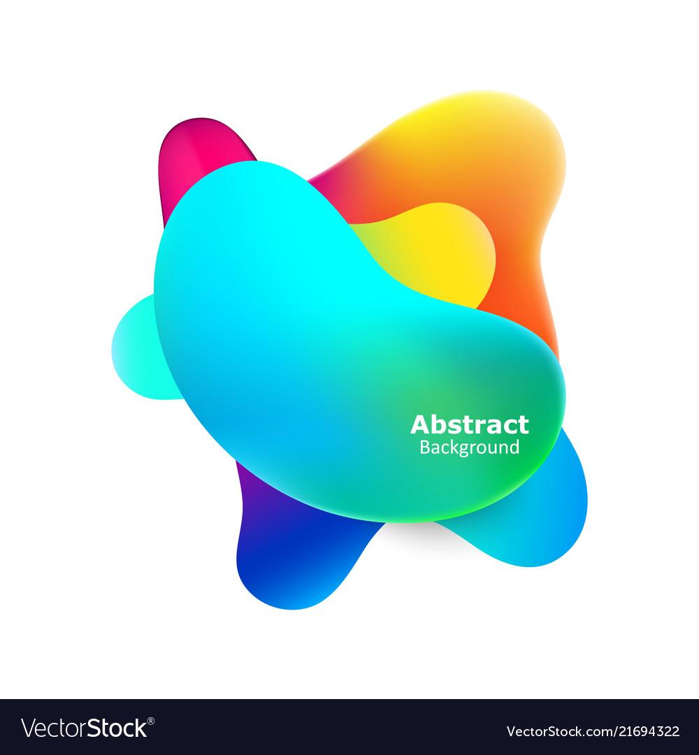 Plastic colorful shapes fluid multicolor banner