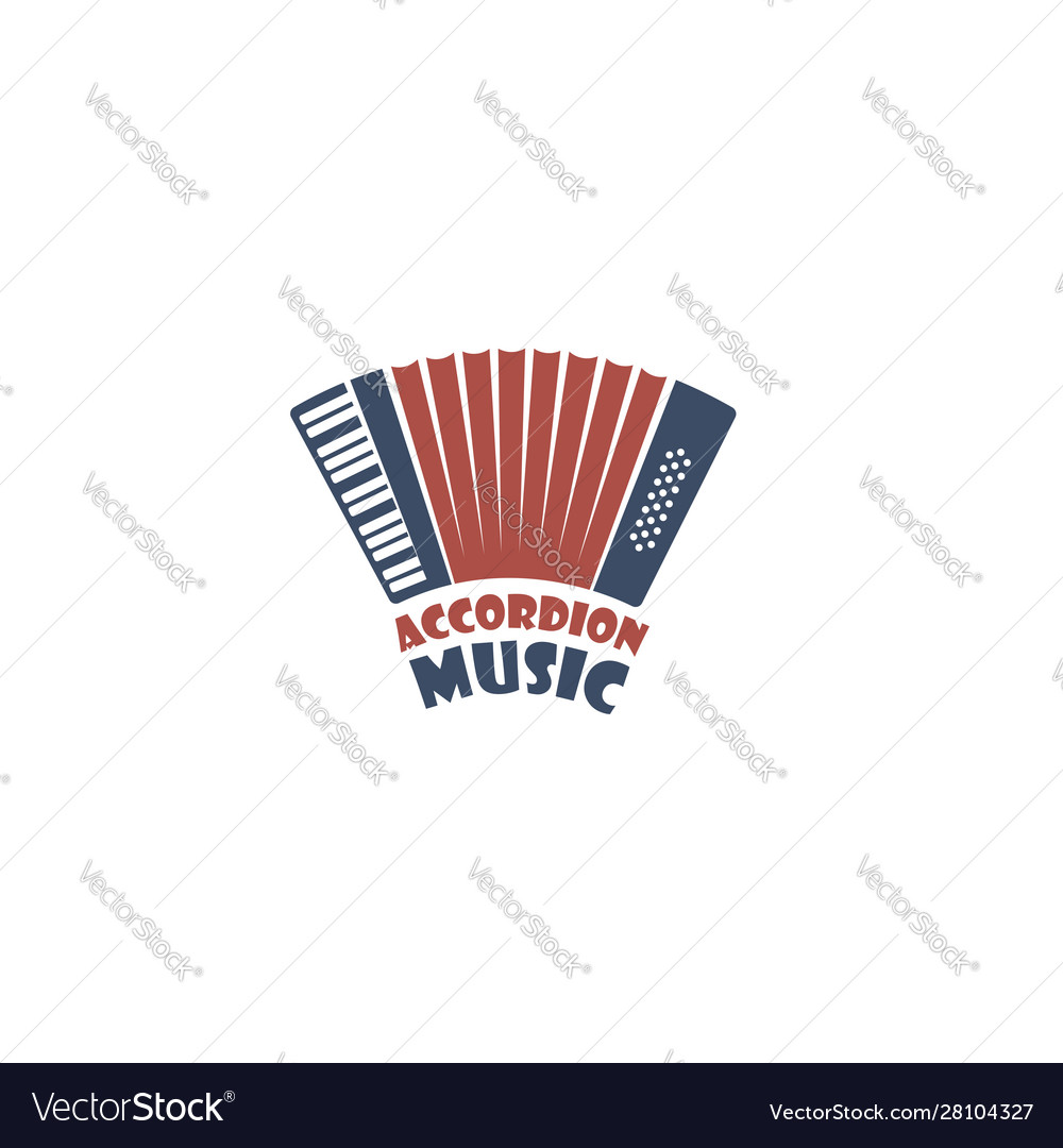 Abstract accordion emblem